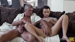 Daddy4k. Stud With Bazoomas Doesnt Pay Attention How His Honey Has Molten Romp