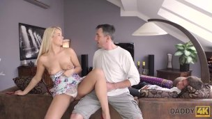 Daddy4k. Mature Stud Nonetheless Seat Sate All Muddy Wishes Of A Nubile Honey
