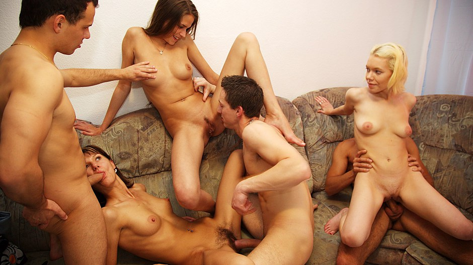 Wonderful Bare Soiree Movie With Super-fucking-hot Gang Screwing