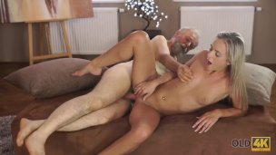 Old4k. Gorgeous Aged Daddy Sates Winsome Dominatrix In More Than A Few Techniques